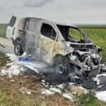 Fahrzeugbrand auf der B19