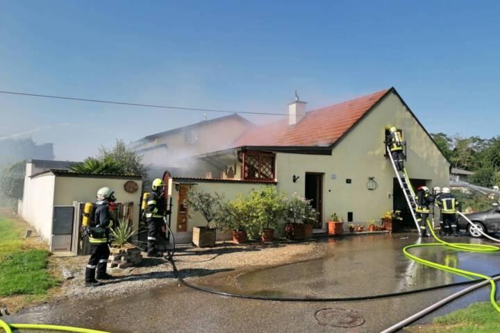 Wohnhausbrand in Pettendorf