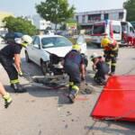Verkehrsunfall zwischen zwei PKW