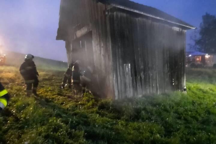 Schuppenbrand in Hauzendorf