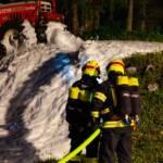 Brandeinsatz auf den Hutterer Böden beübt