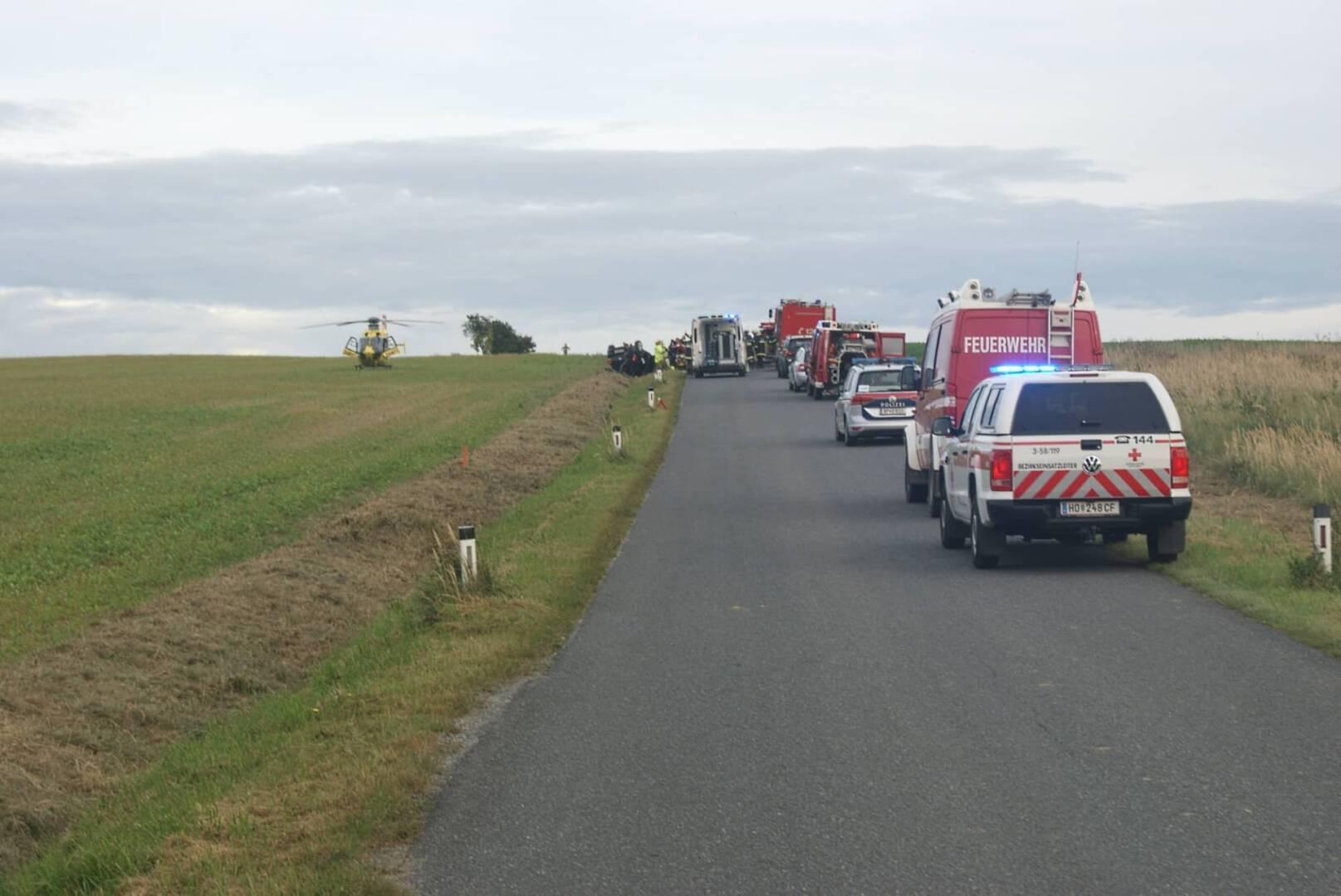 Schwerer Verkehrsunfall zwischen Radl und Schweinburg