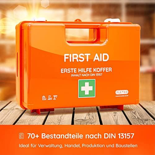 Erste-Hilfe-Koffer für Betriebe nach DIN 13157 in orange 1