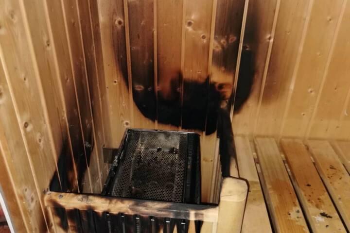 Saunabrand rechtzeitig gelöscht