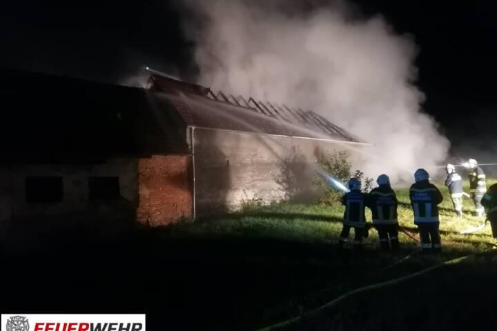 Gebäudebrand in Kroatisch Geresdorf