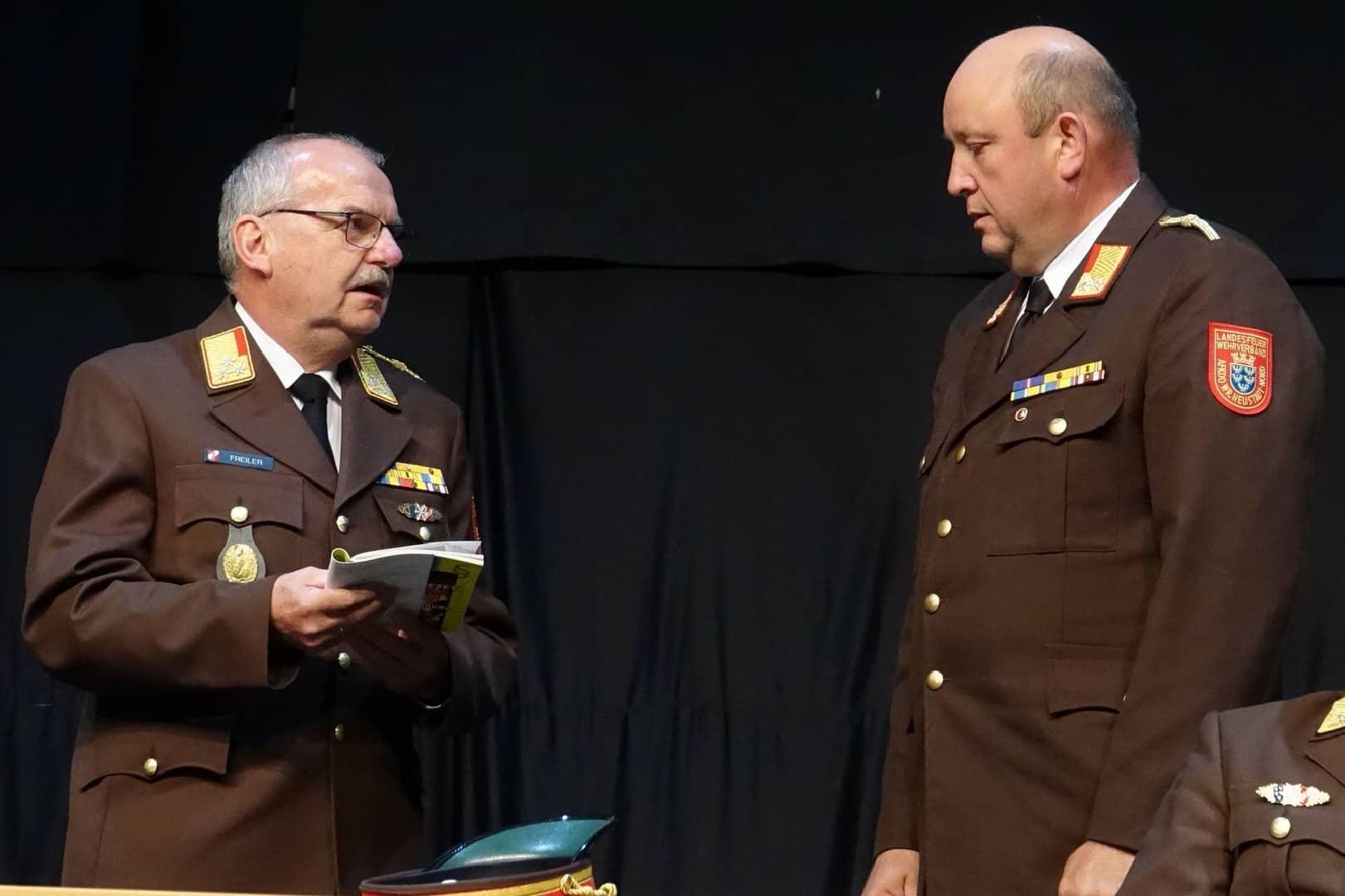 Karl-Heinz Greiner ist neuer Kommandant-Stellvertreter des Bezirksfeuerwehrkommandos Wr. Neustadt