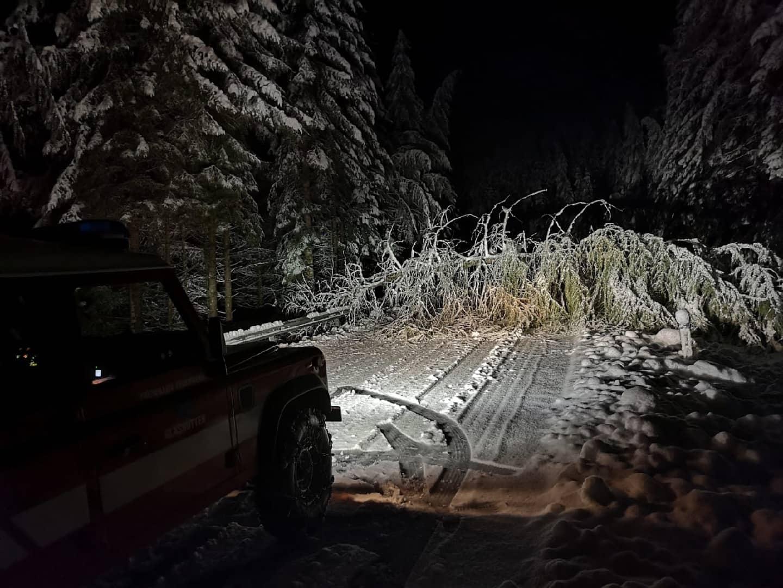Wintereinbruch fordert die Feuerwehren