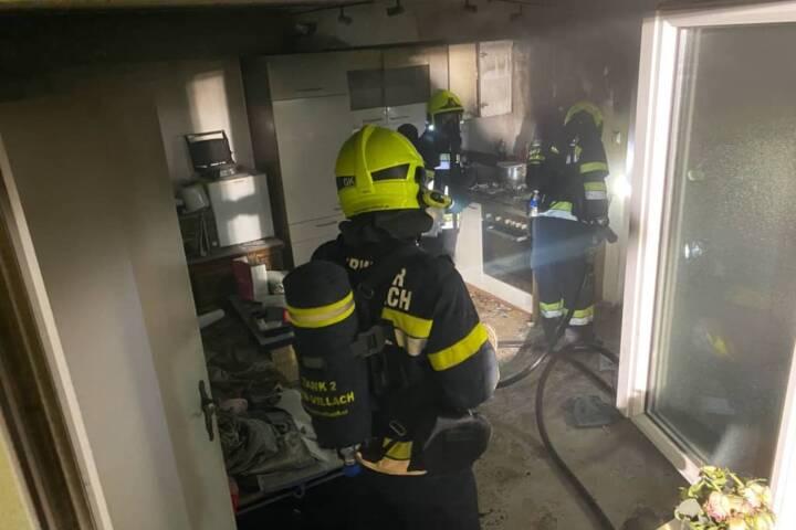 Küchenbrand in Villach Warmbad