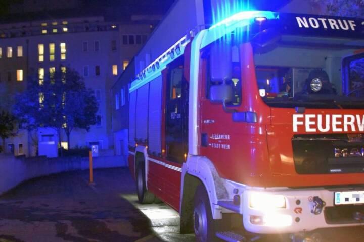 Zimmerbrand in Wien - Simmering