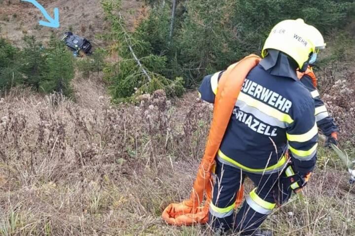 Fahrzeug am Zellerrain 60 Meter abgestürzt