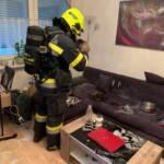 Wohnungsbrand mit Menschenrettung in Landskron