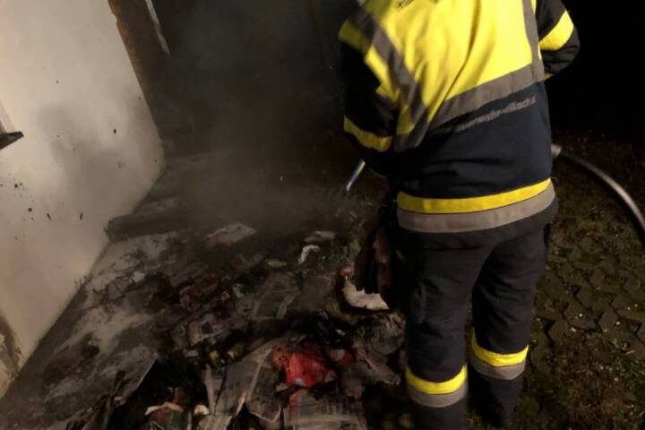 Müllcontainerbrand in Villach