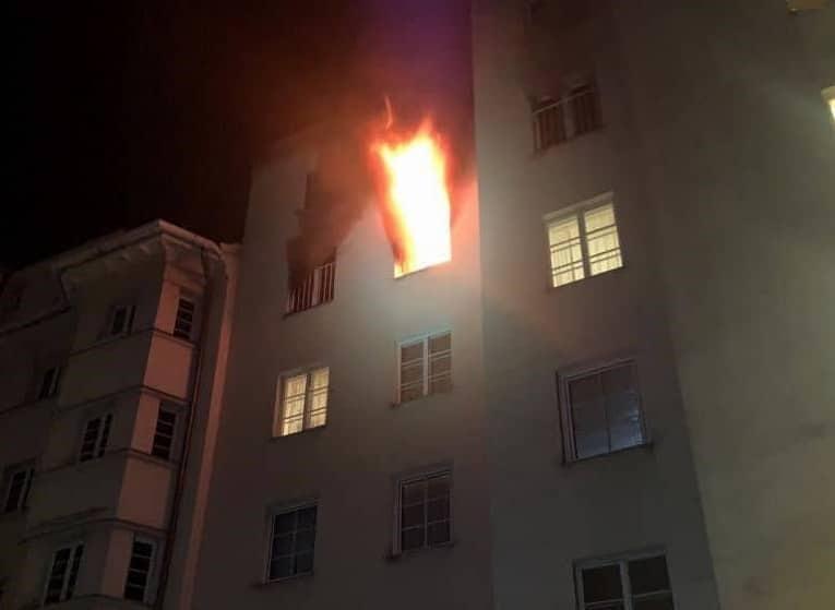 Wohnungsvollbrand in Wien - Landstraße