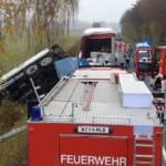 Schwerer Verkehrsunfall auf der B68
