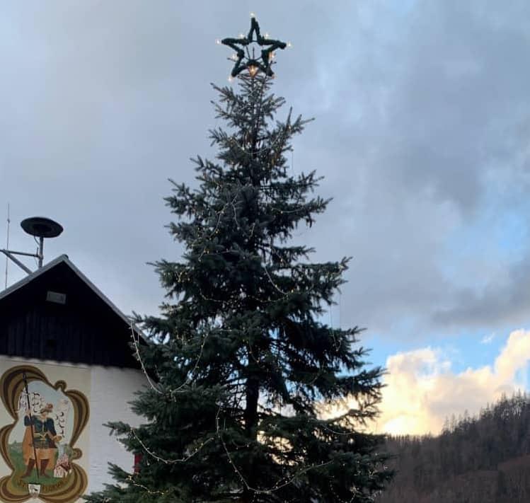 E-BI Franz Vockner spendet Perneck Weihnachtsbaum