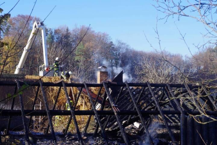 Dachstuhlbrand in Grieselstein - Steingupf