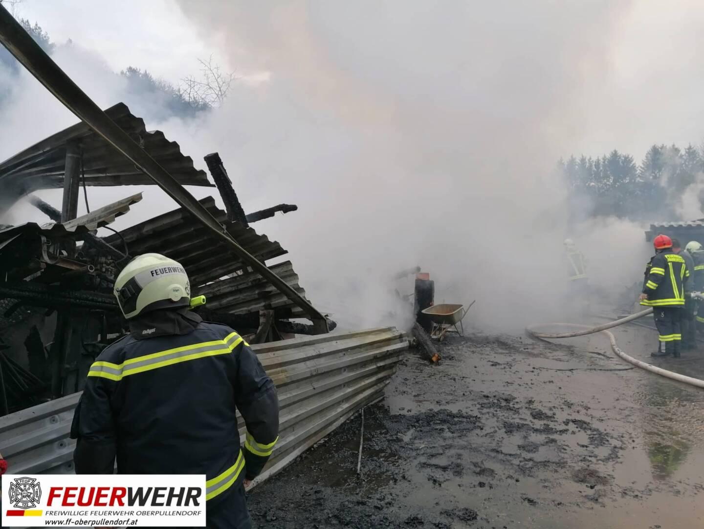 Gebäudebrand Hammerteich mit Ölaustritt