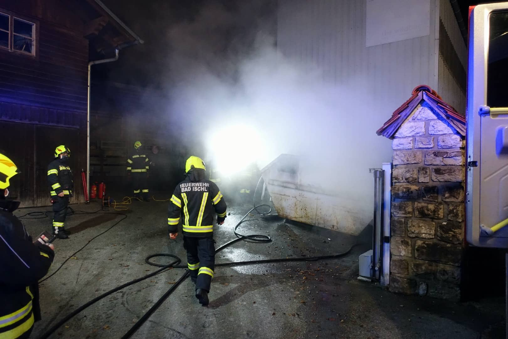 Brand auf Betriebsgel�nde