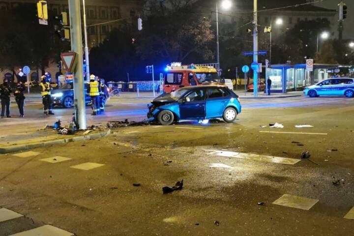 Verkehrsunfall auf der 2er-Linie
