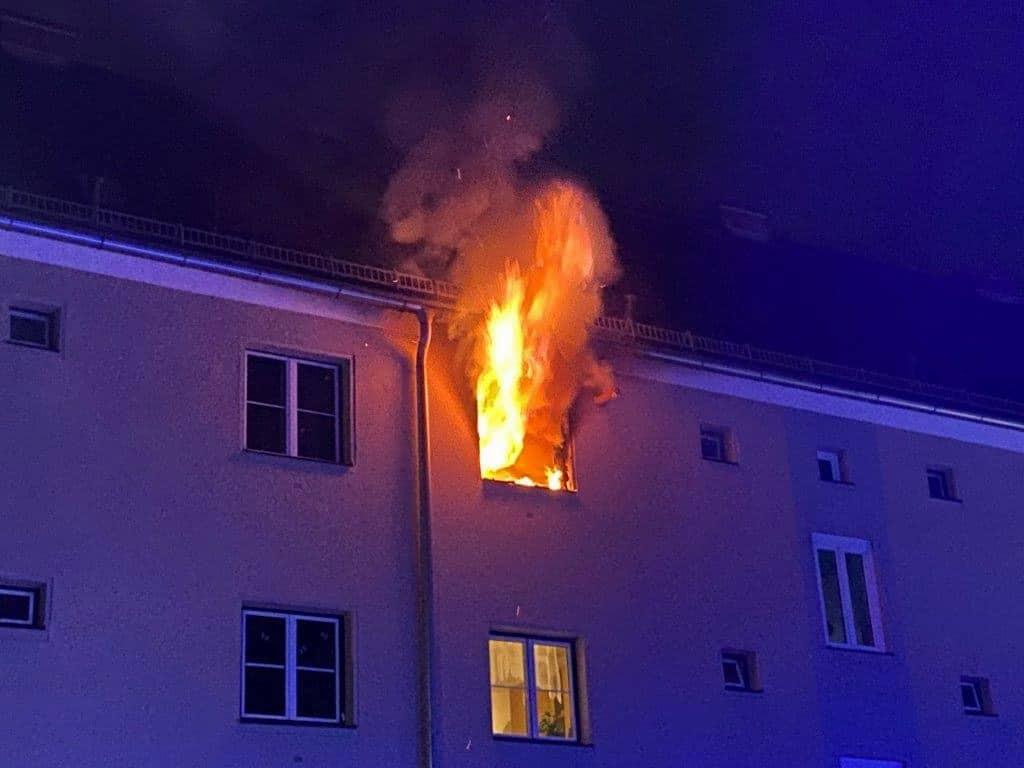Wohnungsbrand in Leoben