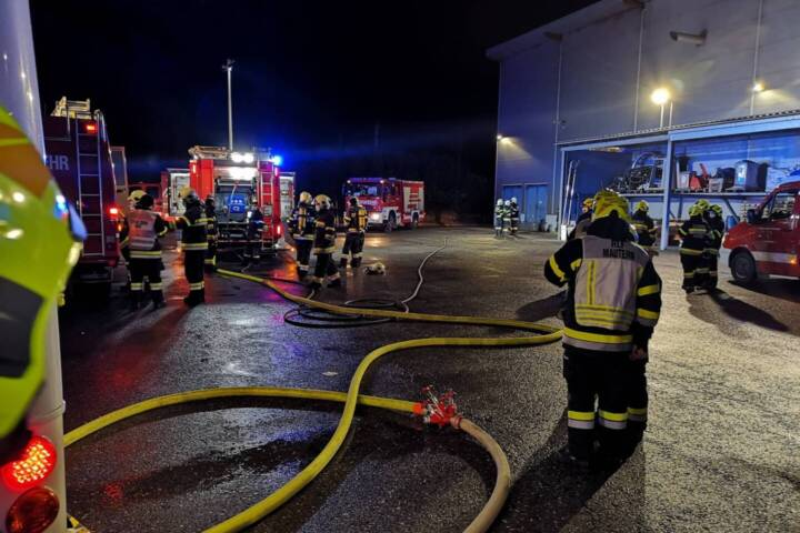 Industriebrand in Kammern