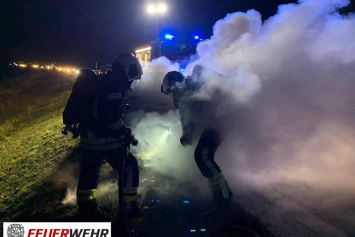 Fahrzeugbrand auf der S31