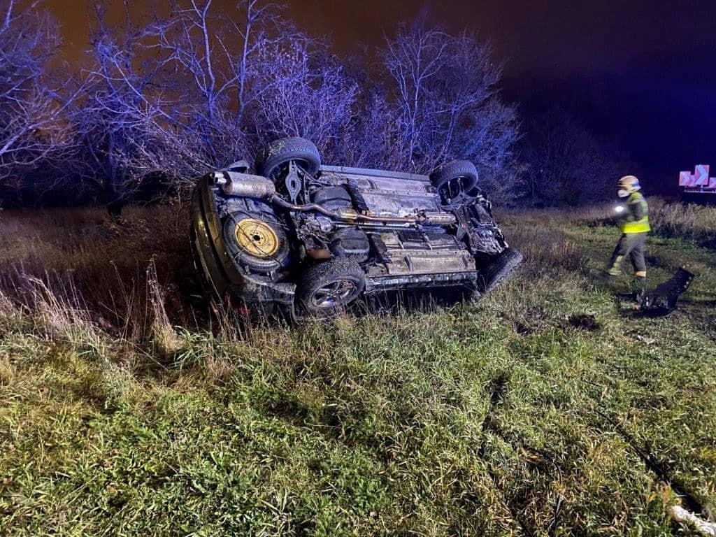 Verkehrsunfall auf der A23 – Abfahrt A22