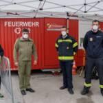 Feuerwehren aktiv bei den Covid-Massentestungen