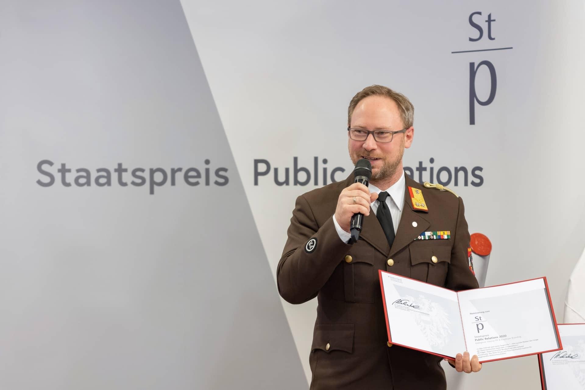 PR-Staatspreis 2020: Bundesfeuerwehrverband ist Kategorie-Sieger