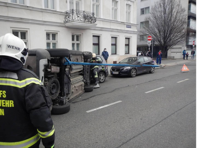 Verkehrsunfall in Wien - Brigittenau