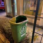 Müllbehälterbrand