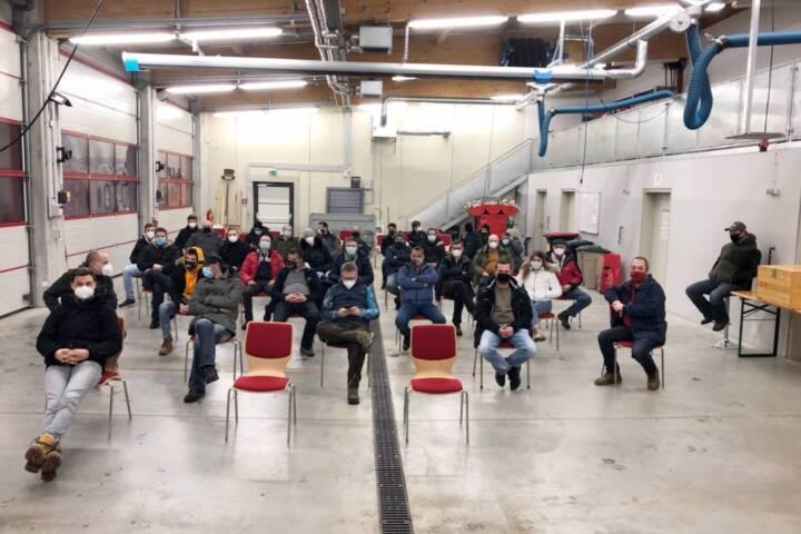 Kommandantenwahl bei der Feuerwehr