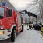 Fahrzeugbergung auf der Rettenbachalmstraße