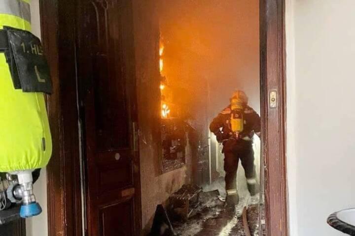 Zimmerbrand in Wien – Döbling