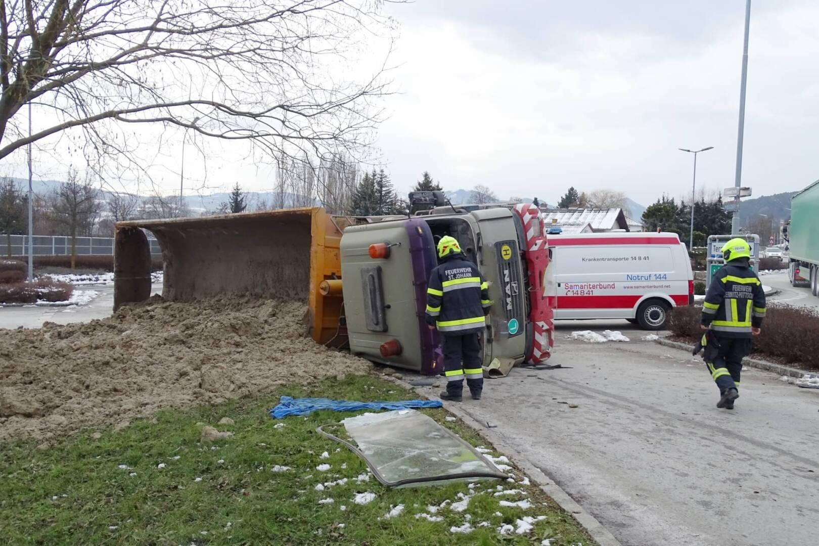 LKW Unfall in Pottschach