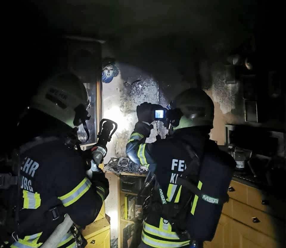 Zimmerbrand im Stadtzentrum