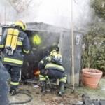 Brand einer Gartenhütte