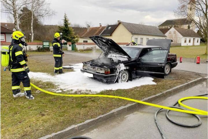 Fahrzeugbrand Deutsch Kaltenbrunn