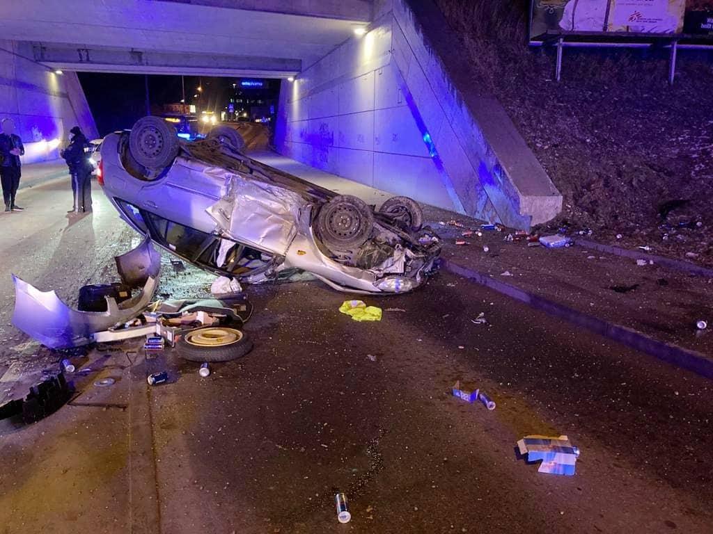 Verkehrsunfall in Wien - Liesing