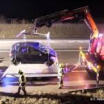 A5 Nordautobahn - Verkehrsunfall mit Menschenrettung