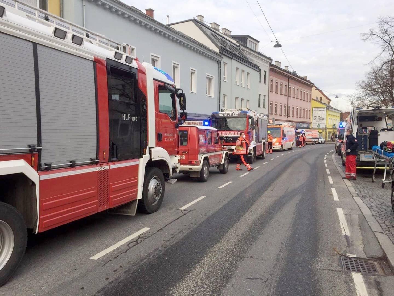 Brandeinsatz in Wien - Liesing