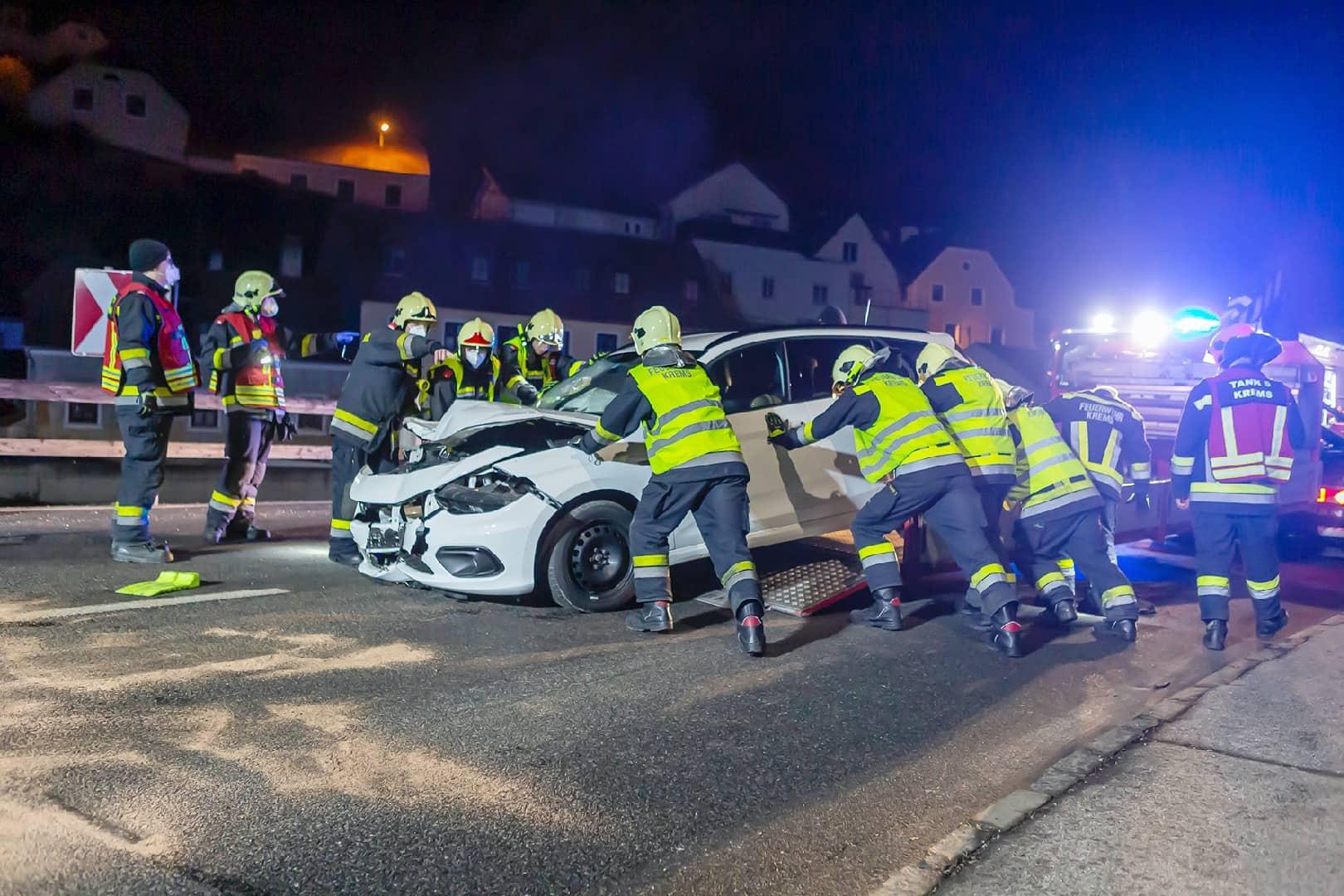 Verkehrsunfall in der Kremstalstraße