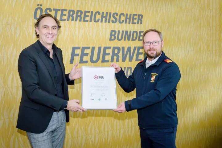 Ausgezeichnet - ÖBFV ist Träger des Österreichischen PR-Gütezeichens