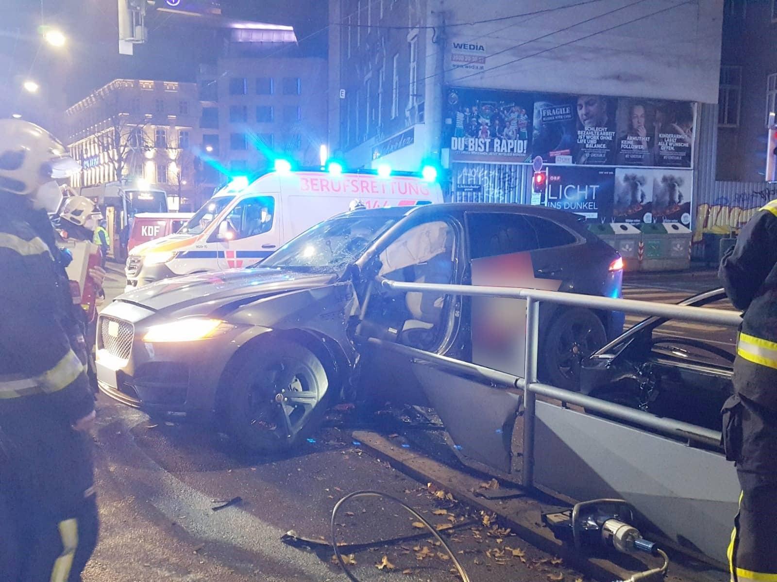 Verkehrsunfall in Wien - Wieden
