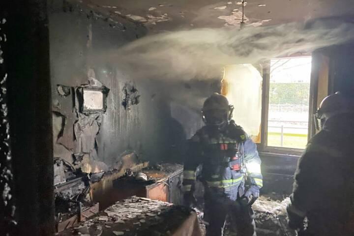 Zimmerbrand in Wien - Liesing