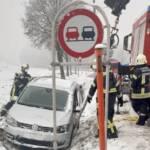 Schneefall sorgt für Verkehrsunfälle
