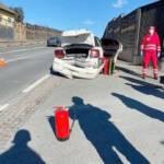 Verkehrsunfall auf der B76 in Schamberg