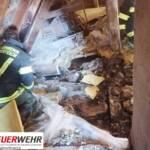 Dachstuhlbrand in Hammerteich