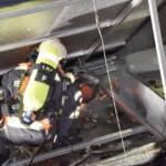 Dachbrand in Wien – Margareten
