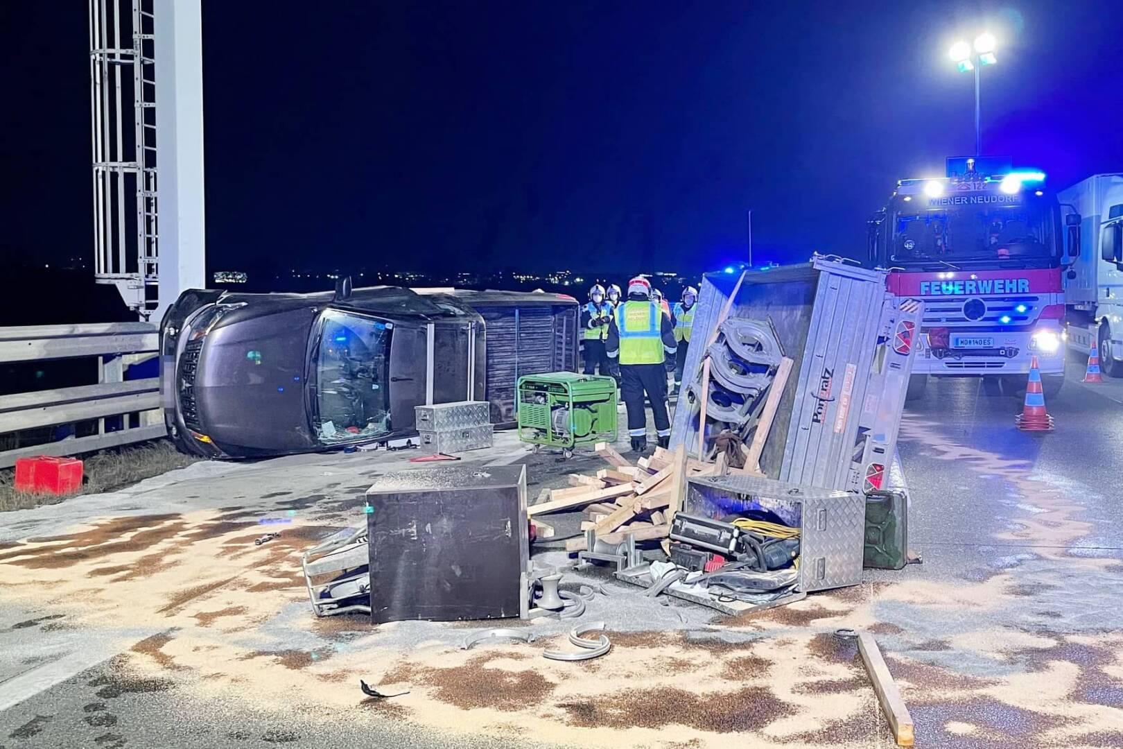 FF Wiener Neudorf: Verkehrsunfall auf der Südautobahn